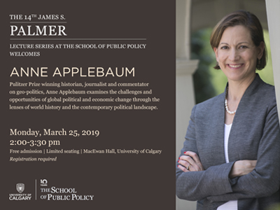 14th James S. Palmer Lecture Series featuring Anne Applebaum