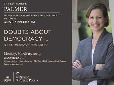 14th James S. Palmer Lecture Series featuring Anne Applebaum