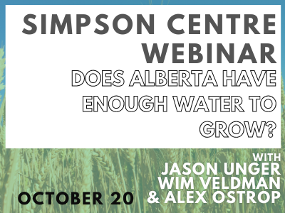 Does Alberta Have Enough Water to Grow? Expert Panel Discussion